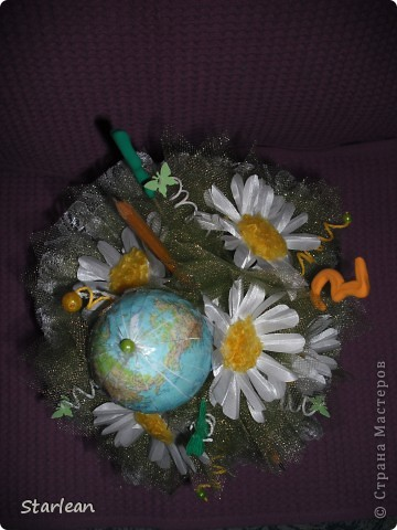 Мастер-класс Моделирование: букетик ко дню учителя с ромашками Ткань День учителя. Фото 1