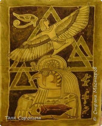 Декор предметов Рисование и живопись: Египетская богиня-кошка Краска. Фото 10