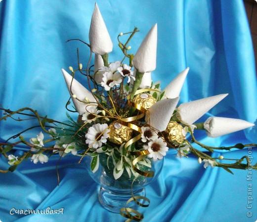 Мастер-класс, Свит-дизайн: Конусы для свит-дизайна Бумага 8 марта, День рождения, Новый год. Фото 10
