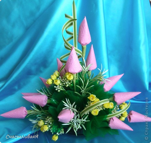 Мастер-класс, Свит-дизайн: Конусы для свит-дизайна Бумага 8 марта, День рождения, Новый год. Фото 11