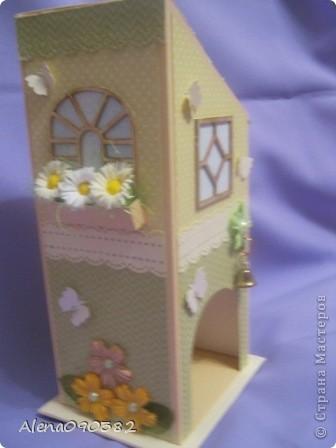Поделка, изделие, Скрапбукинг: Коробочка с сюрпризом и чайный домик