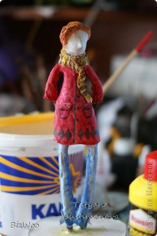 Куклы Лепка, Папье-маше: Топ модель ))) Акварель, Бумага. Фото 2