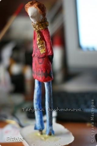 Куклы Лепка, Папье-маше: Топ модель ))) Акварель, Бумага. Фото 3