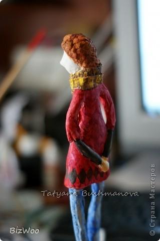 Куклы Лепка, Папье-маше: Топ модель ))) Акварель, Бумага. Фото 4