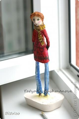 Куклы Лепка, Папье-маше: Топ модель ))) Акварель, Бумага. Фото 6