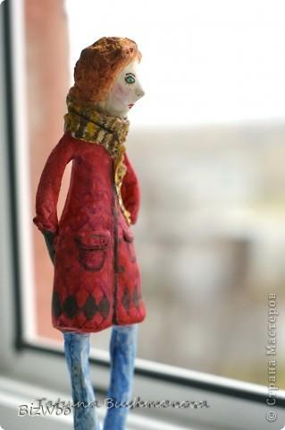 Куклы Лепка, Папье-маше: Топ модель ))) Акварель, Бумага. Фото 9