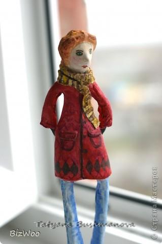 Куклы Лепка, Папье-маше: Топ модель ))) Акварель, Бумага. Фото 10