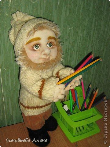 Мастер-класс Валяние (фильцевание), Шитьё: ДОМОВЁНОК и как я делаю куклам головы Капрон. Фото 1
