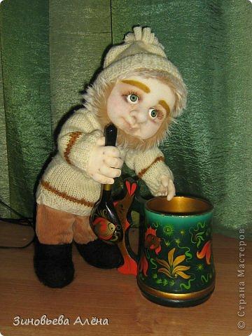 Мастер-класс Валяние (фильцевание), Шитьё: ДОМОВЁНОК и как я делаю куклам головы Капрон. Фото 2