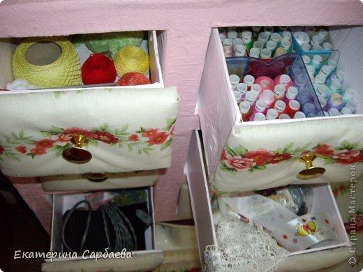 Мастер-класс: комодик для пошивушек Картон. Фото 25