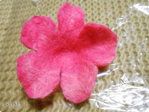 Мастер-класс, Поделка, изделие Валяние (фильцевание): Валяем цветок. МК Шерсть. Фото 26