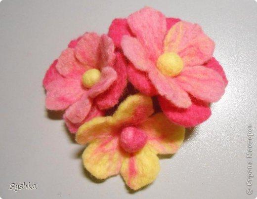 Мастер-класс, Поделка, изделие Валяние (фильцевание): Валяем цветок. МК Шерсть. Фото 28
