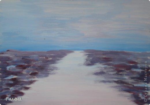 Мастер-класс Рисование и живопись: Утро туманное. Гуашь. Фото 2