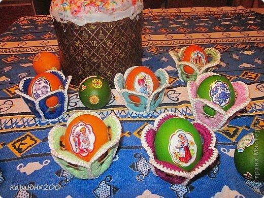 Мастер-класс Вязание крючком: Подставки для пасхальных яиц и ещё чуть-чуть!!! Материал бросовый Пасха. Фото 1