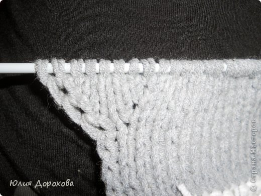 Гардероб, Мастер-класс Вязание спицами: Митенки на двух спицах Пряжа. Фото 4