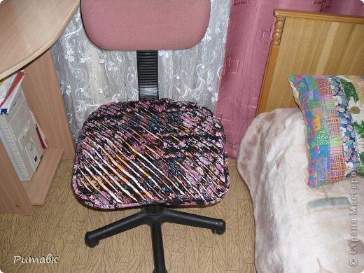 """Мастер-класс Пэчворк: Накидка для компьютерного кресла в технике """"синель"""" Ткань. Фото 7"""