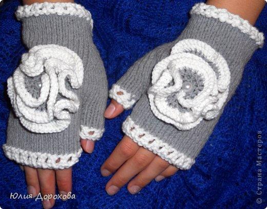 Гардероб, Мастер-класс Вязание спицами: Митенки на двух спицах Пряжа. Фото 10