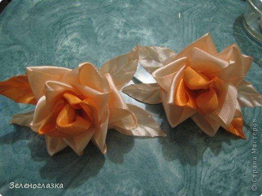 Мастер-класс, Поделка, изделие Цумами Канзаши: Роза МК Ленты. Фото 1