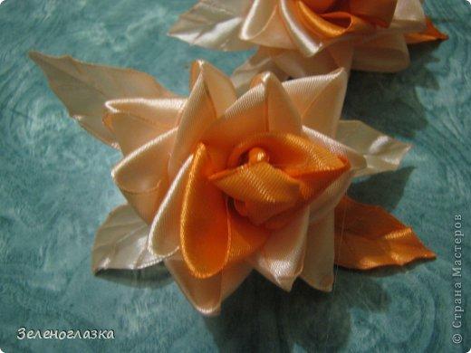 Мастер-класс, Поделка, изделие Цумами Канзаши: Роза МК Ленты. Фото 16