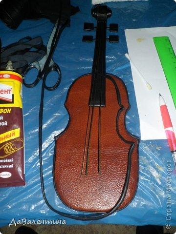 Картины из кожи скрипка и розы мастер класс