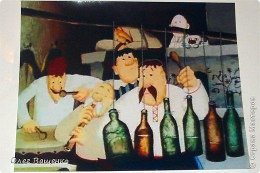"""Декор предметов, Мастер-класс Аппликация из скрученных жгутиков, Декупаж, Папье-маше: Бутылка """"Украинская хата""""-2 Бумага, Бутылки стеклянные, Краска. Фото 3"""