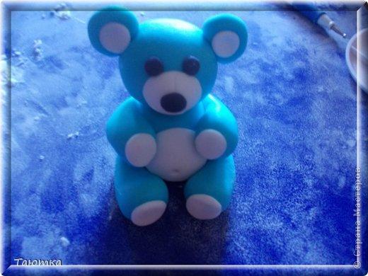 Мастер-класс Лепка: МК Мишка из мастики День рождения. Фото 11