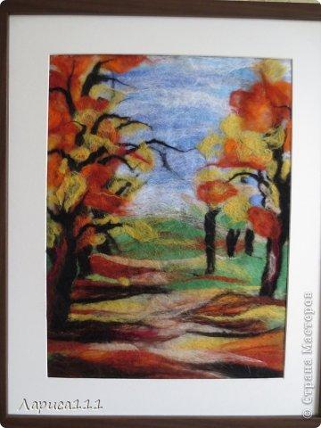 Картина, панно, рисунок, Мастер-класс Валяние (фильцевание): Валяние Шерсть Праздник осени. Фото 1