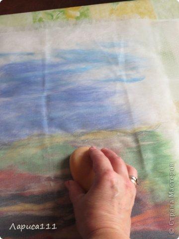 Картина, панно, рисунок, Мастер-класс Валяние (фильцевание): Валяние Шерсть Праздник осени. Фото 4