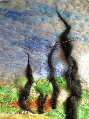 Картина, панно, рисунок, Мастер-класс Валяние (фильцевание): Валяние Шерсть Праздник осени. Фото 7