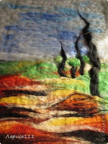 Картина, панно, рисунок, Мастер-класс Валяние (фильцевание): Валяние Шерсть Праздник осени. Фото 8