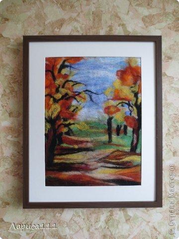 Картина, панно, рисунок, Мастер-класс Валяние (фильцевание): Валяние Шерсть Праздник осени. Фото 10