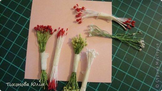 Мастер-класс: Как я делаю тычинки для цветов Нитки. Фото 13