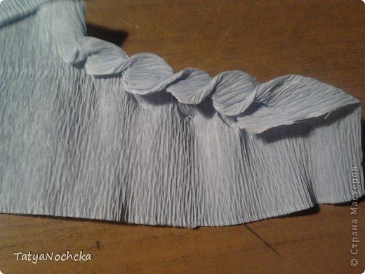 Мастер-класс Бумагопластика: Розочки из гофрированной бумаги МК Бумага гофрированная Дебют. Фото 7