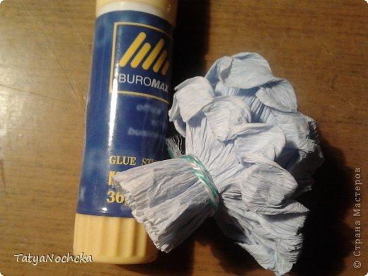 Мастер-класс Бумагопластика: Розочки из гофрированной бумаги МК Бумага гофрированная Дебют. Фото 9