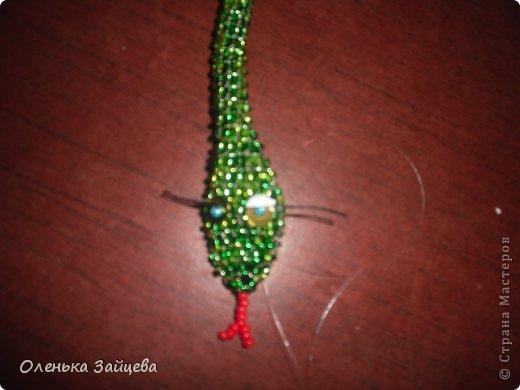 Мастер-класс Бисероплетение: МК змея из бисера Бисер, Бусинки, Пайетки Новый год. Фото 13