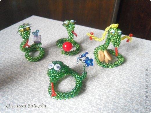 Мастер-класс Бисероплетение: МК змея из бисера Бисер, Бусинки, Пайетки Новый год. Фото 15