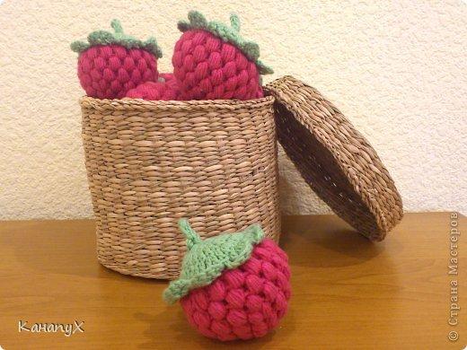 Мастер-класс Вязание крючком: Вязаная малина! Пряжа. Фото 11