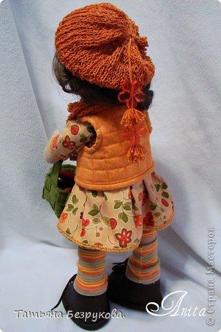 Куклы Шитьё: Девочка с грибами.  Ткань. Фото 5