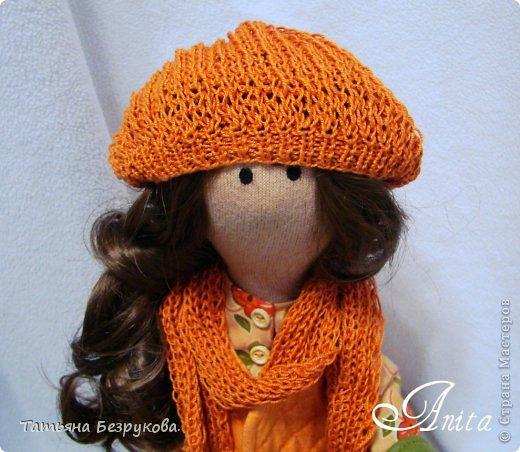 Куклы Шитьё: Девочка с грибами.  Ткань. Фото 10