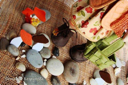 Куклы Шитьё: Девочка с грибами.  Ткань. Фото 3