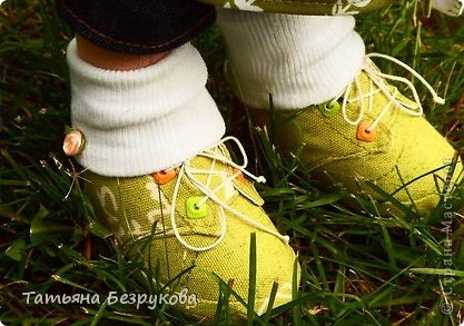 Мастер-класс Шитьё: МК. Ботинки для куклы.  Ткань. Фото 1