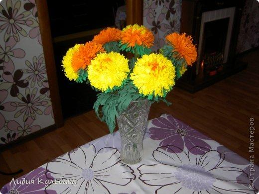 Мастер-класс Квиллинг: Хризантемы Бумага гофрированная. Фото 1