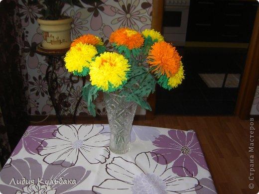 Мастер-класс Квиллинг: Хризантемы Бумага гофрированная. Фото 2