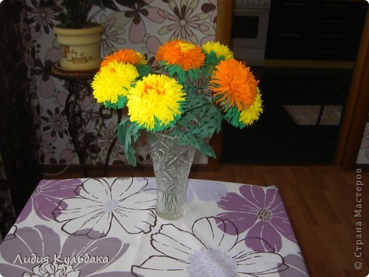 Хризантемы Бумага