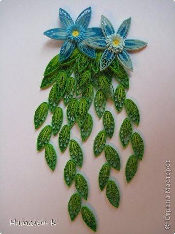 Мастер-класс Квиллинг: Листочки и цветочки на расчёске. Бумажные полосы. Фото 17