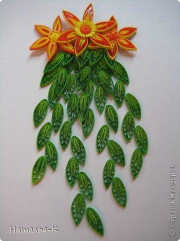 Мастер-класс Квиллинг: Листочки и цветочки на расчёске. Бумажные полосы. Фото 18
