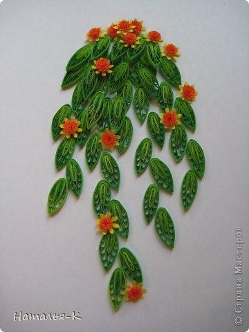 Мастер-класс Квиллинг: Листочки и цветочки на расчёске. Бумажные полосы. Фото 19