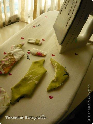 Мастер-класс Шитьё: МК. Ботинки для куклы.  Ткань. Фото 9