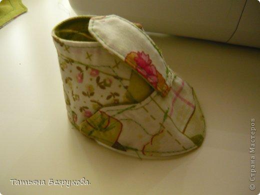 Мастер-класс Шитьё: МК. Ботинки для куклы.  Ткань. Фото 15