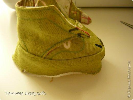 Мастер-класс Шитьё: МК. Ботинки для куклы.  Ткань. Фото 19